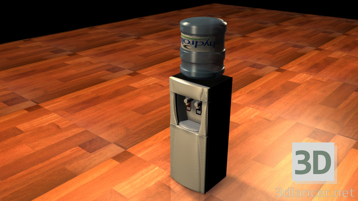 3d model Cooler with water - preview
