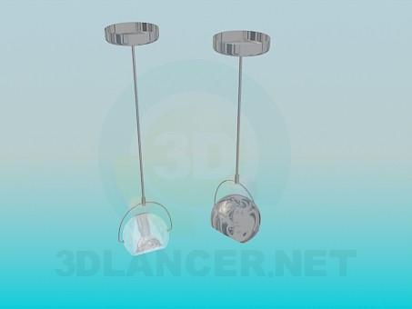 descarga gratuita de 3D modelado modelo Luminarias para lámparas halógenas