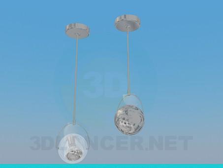 3d модель Светильники на галогеновых лампочках – превью
