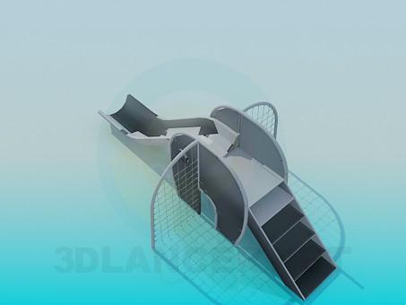descarga gratuita de 3D modelado modelo Diapositivas de niños