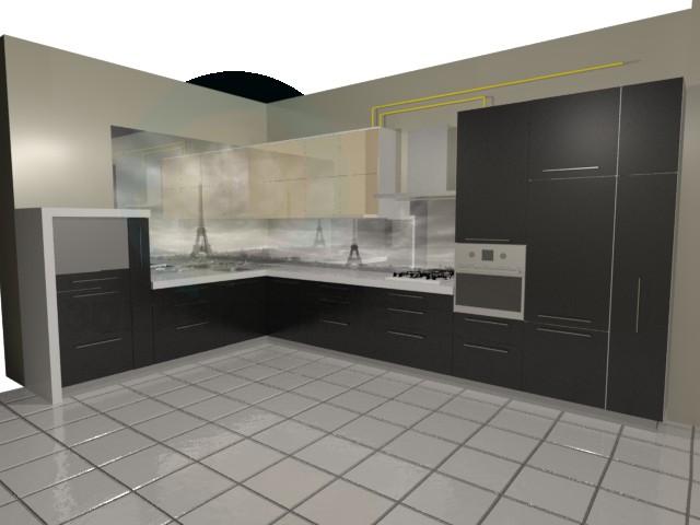 3d модель Кухня Париж – превью