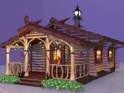 Bad. Log cabin