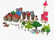 Paquete medieval de la ciudad