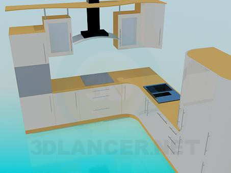 3d model Yellow Kitchen - preview