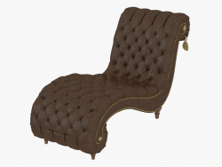 Chaise longue with a stitch of a capiton Aktavia