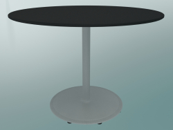 Tavolo BON (9382-51 (⌀ 70cm), H 51cm, HPL nero, ghisa bianco)
