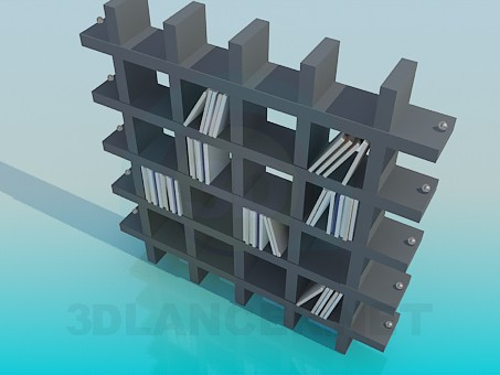 3d model Shelves for books and souvenirs - preview