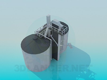 3d model Fábrica de tanques - vista previa