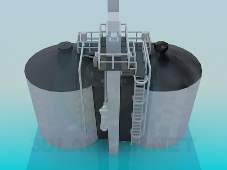 3d модель Цистерни на заводі – превью