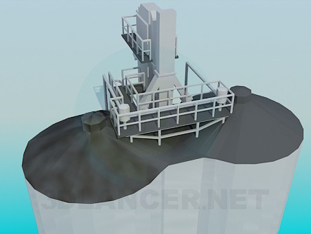 modelo 3D Fábrica de tanques - escuchar