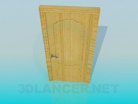 3d model Wooden door - preview