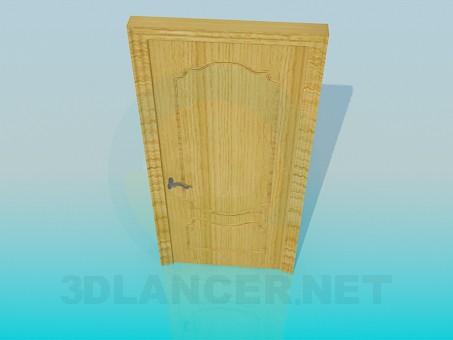 3d модель Деревянная дверь – превью