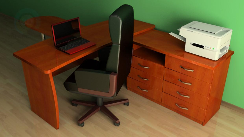 3d модель 3Д модель робочого місця керівника – превью