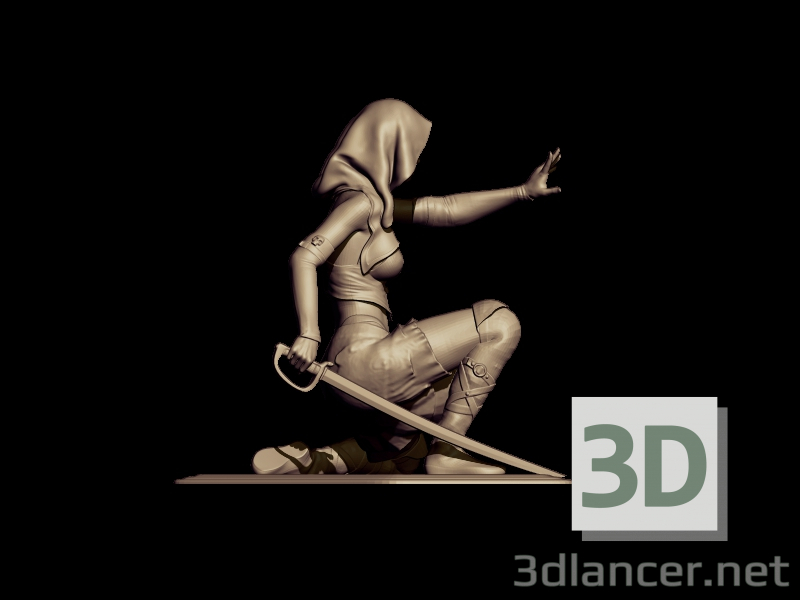 3d assasin model buy - render