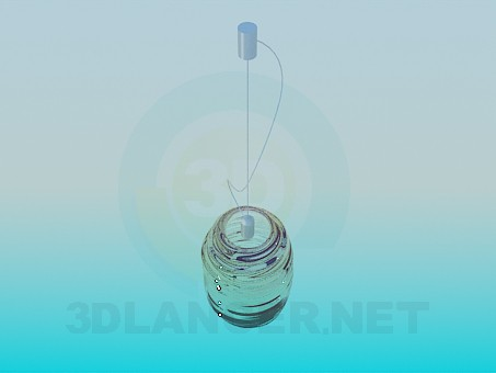 3d моделирование Светильник со стеклянным плафоном модель скачать бесплатно