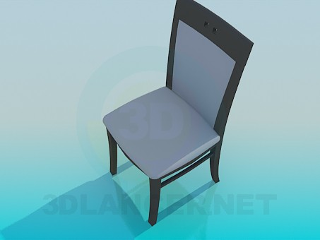 3d model Normal stools with back - preview