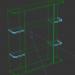 3d Bathroom shelf model buy - render