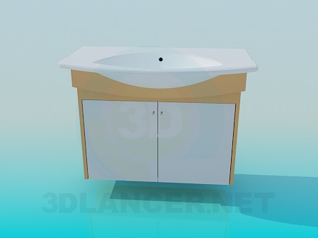3d model Sink in bathroom - preview