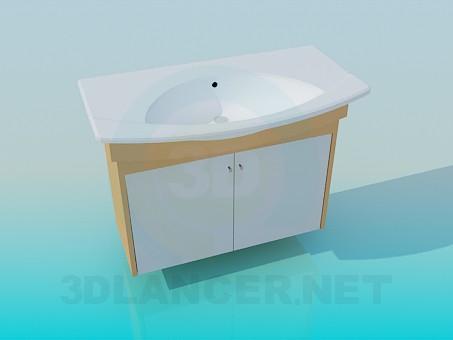 modelo 3D Fregadero de baño - escuchar