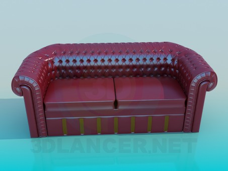 3d model Sofa lether - preview