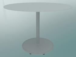 Tavolo BON (9382-51 (⌀ 70cm), H 51cm, HPL bianco, ghisa bianco)