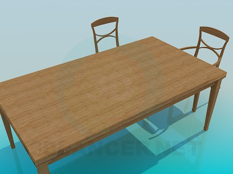 3d modeling A large dining table model free download