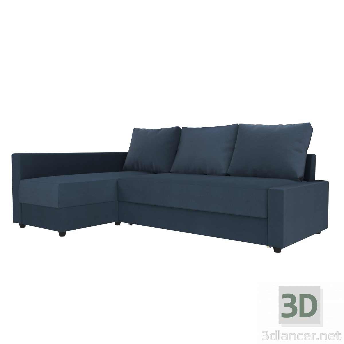3d corner sofa FRICHETEN IKEA model buy - render