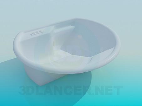3d модель Ванна с местом для сидения – превью