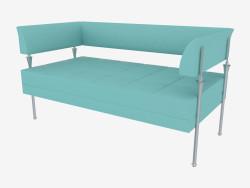 Двомісний шкіряний диван