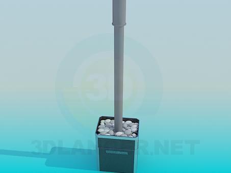 3d модель Печь для сауны – превью