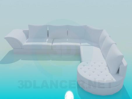 3d моделирование Диван угловой модель скачать бесплатно