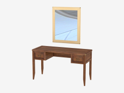 Toilet table with mirror