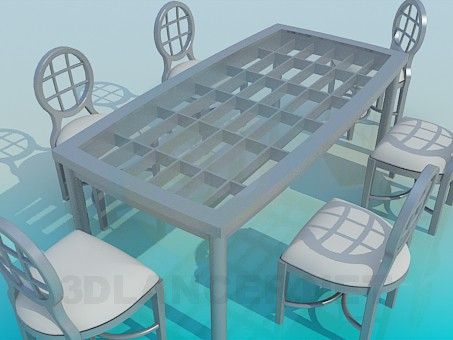 3d model Table for guests - preview