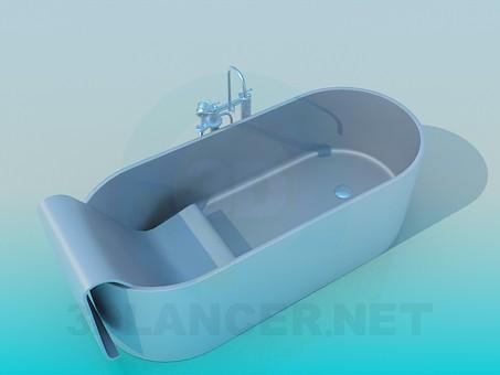 modelo 3D Baño dentro de la sede - escuchar