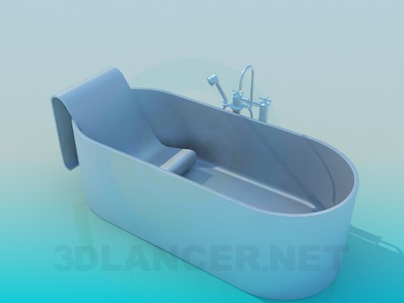 3d model Bath within the seat - preview