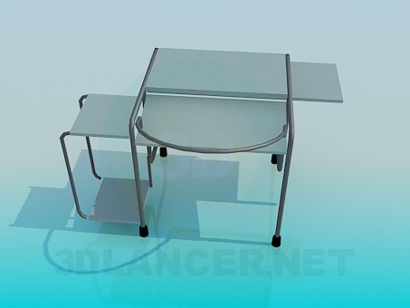 modelo 3D Mesa para PC - escuchar