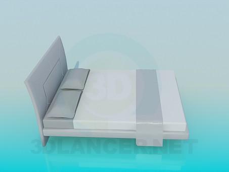 3d модель Ліжко широка – превью