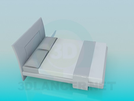 3d model Wide bed - preview