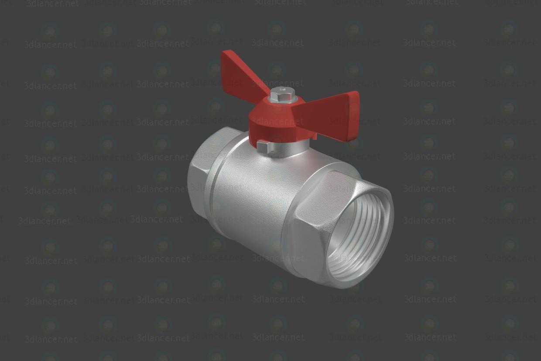 3d модель Модель шарового крана - резьба ВВ – превью