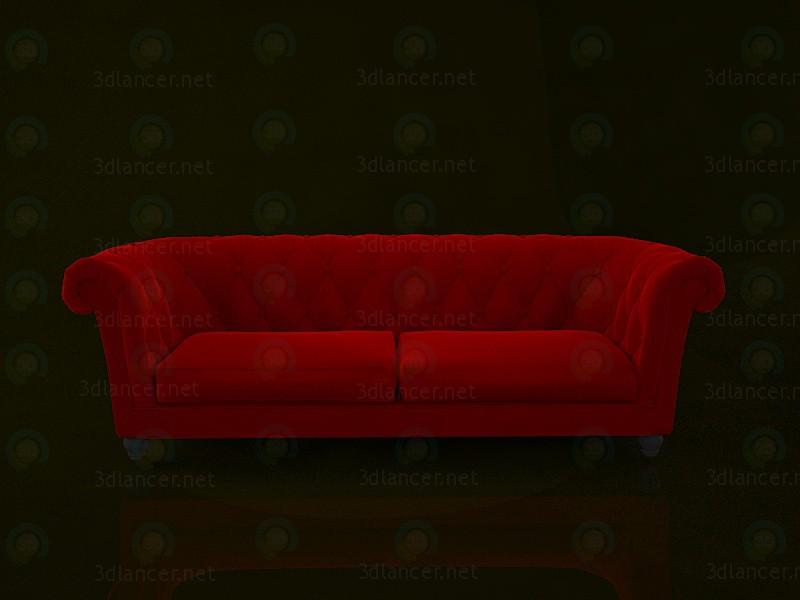 modelo 3D Sofá Chesterfield - escuchar
