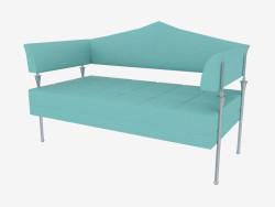 Üçgen sırtlı çift kişilik deri kanepe