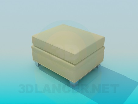 3d model Ottoman yellow - preview