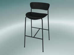 Bar stool Pavilion (AV9, H 95cm, 50x52cm, Black stained oak)