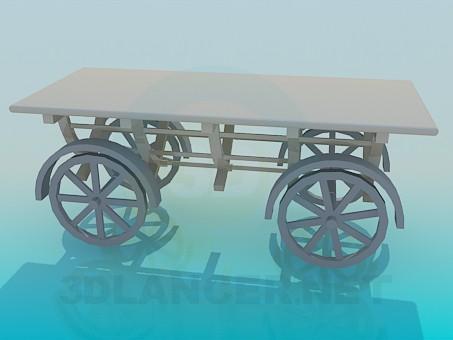 descarga gratuita de 3D modelado modelo carro sobre ruedas