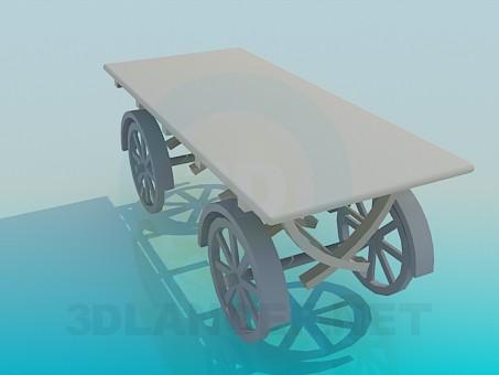 modelo 3D carro sobre ruedas - escuchar