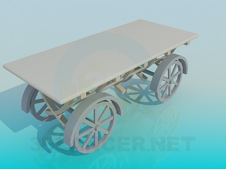 3d model Cart on wheels - preview