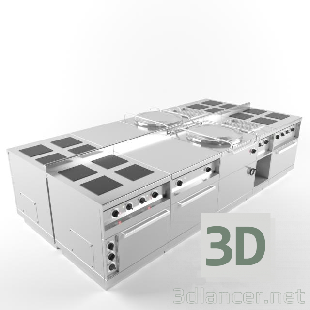 3d model Industrial oven - preview