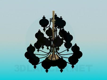3d modeling Chic chandelier model free download