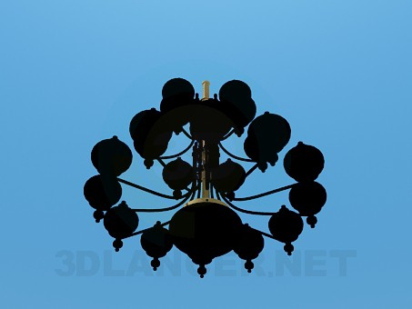 3d model Chic chandelier - preview