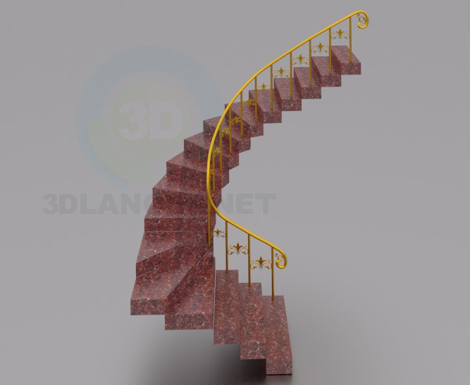 3d model Stairs-2 - preview